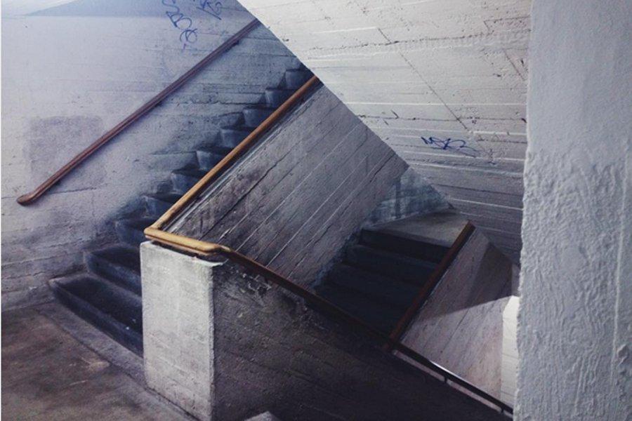 Treppenhaus im Borosbunker Berlin