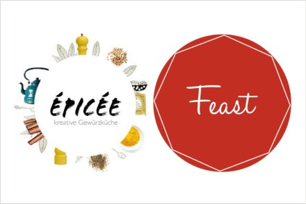 Logo food blog épicée und food community feast