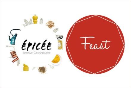 Logo food blog épicée und food community feast