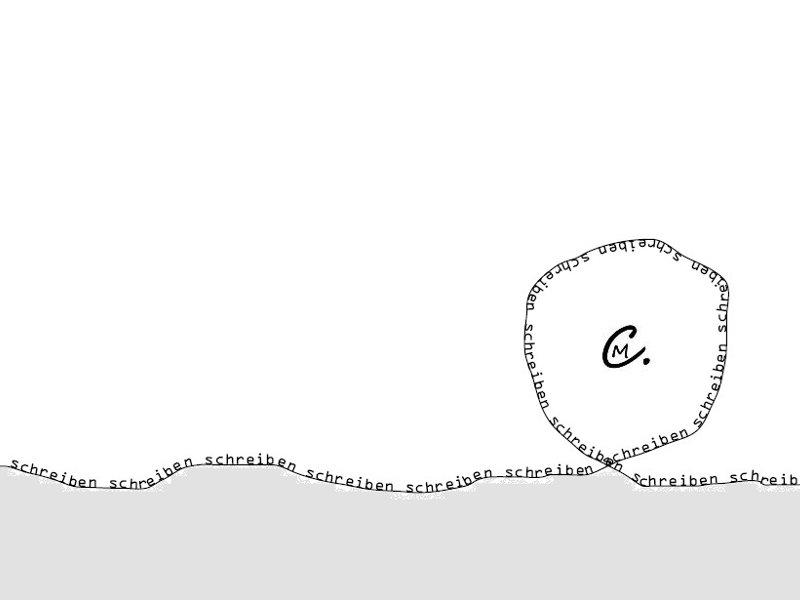 Welle aus dem Wort schreiben