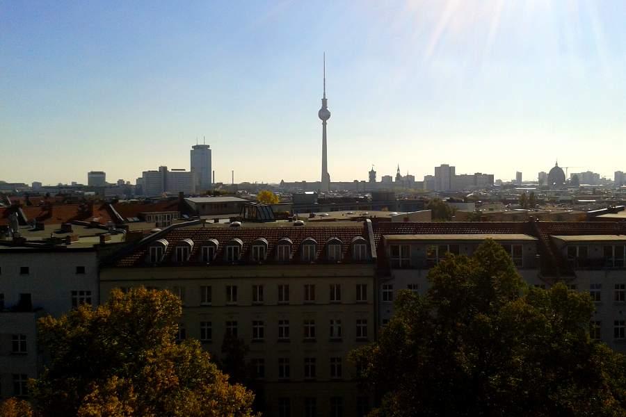 Blick über Berlin von der Zionskirche
