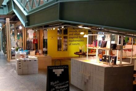 Blick auf Pop-up-Stores im Bikini Berlin