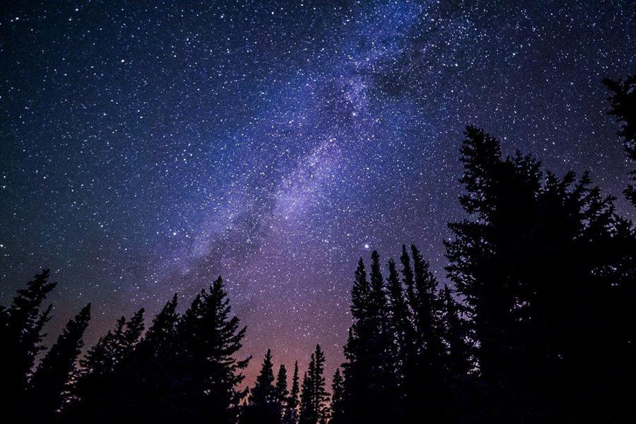 Die Milchstraße am nächtlichen Himmel